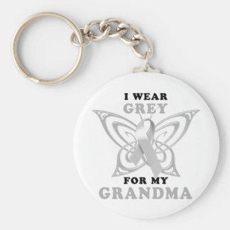 I Wear Grey for my Grandma Key Chains
