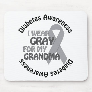 I Wear Grey For My Grandma Support Diabetes Awar Mouse Pad