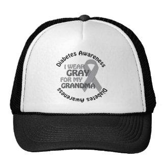 I Wear Grey For My Grandma Support Diabetes Awar Trucker Hat