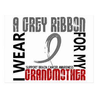I Wear Grey For My Grandmother 46 Brain Cancer Postcard