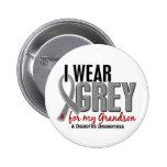 I Wear Grey For My Grandson 10 Diabetes Pin