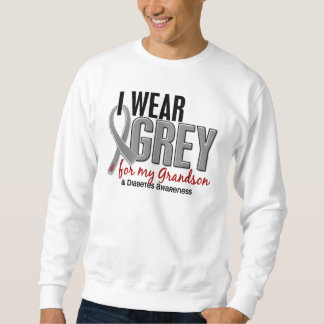 I Wear Grey For My Grandson 10 Diabetes Sweatshirt