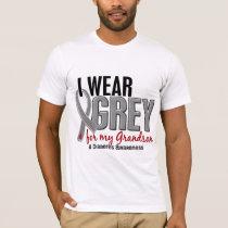 I Wear Grey For My Grandson 10 Diabetes T-Shirt