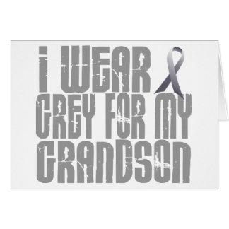 I Wear Grey For My GRANDSON 16 Greeting Card