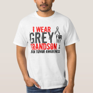 i wear grey for my grandson t-shirts