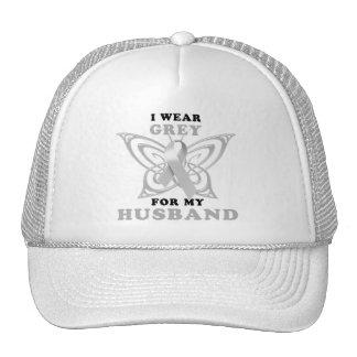 I Wear Grey for my Husband Trucker Hat