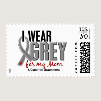 I Wear Grey For My Mom 10 Diabetes Postage