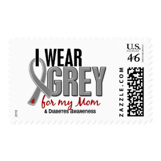 I Wear Grey For My Mom 10 Diabetes Postage Stamps