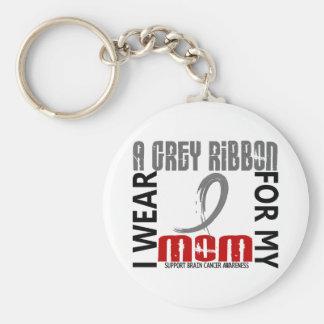 I Wear Grey For My Mom 46 Brain Cancer Key Chains