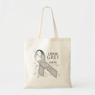 I Wear Grey for my Mom Canvas Bags