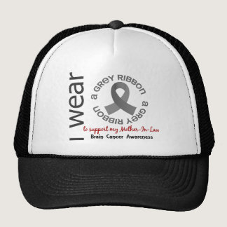 I Wear Grey For My Mother-In-Law 17 Brain Cancer Trucker Hat