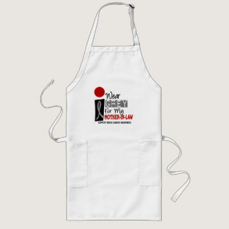 I Wear Grey For My Mother-In-Law 9 BRAIN CANCER Long Apron