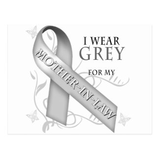 I Wear Grey for my Mother-In-Law Postcard