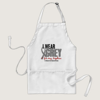 I Wear Grey For My Nephew 10 Diabetes Adult Apron