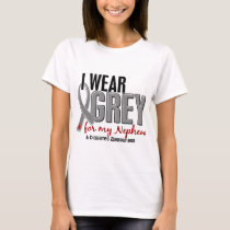 I Wear Grey For My Nephew 10 Diabetes T-Shirt