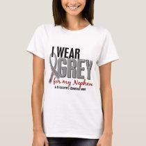 I Wear Grey For My Nephew 10 Diabetes T-Shirt