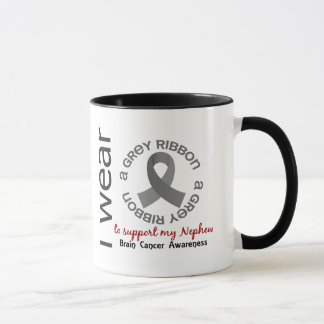 I Wear Grey For My Nephew 17 Brain Cancer Mug