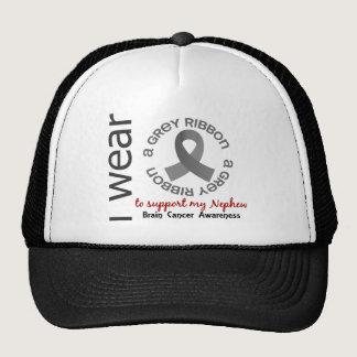 I Wear Grey For My Nephew 17 Brain Cancer Trucker Hat