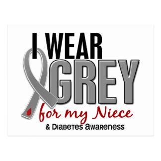 I Wear Grey For My Niece 10 Diabetes Postcard