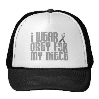I Wear Grey For My Niece 16 Mesh Hat