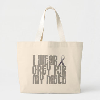 I Wear Grey For My Niece 16 Large Tote Bag
