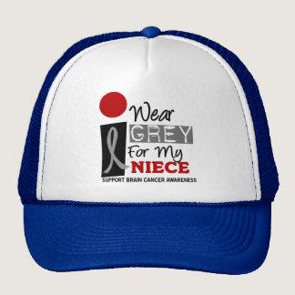 I Wear Grey For My Niece 9 BRAIN CANCER T-Shirts Trucker Hat