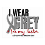 I Wear Grey For My Sister 10 Diabetes Post Cards