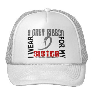 I Wear Grey For My Sister 46 Brain Cancer Hats