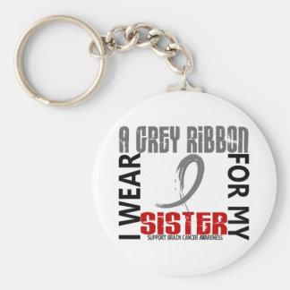I Wear Grey For My Sister 46 Brain Cancer Keychains