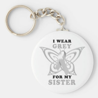 I Wear Grey for my Sister Keychains