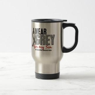 I Wear Grey For My Son 10 Diabetes 15 Oz Stainless Steel Travel Mug