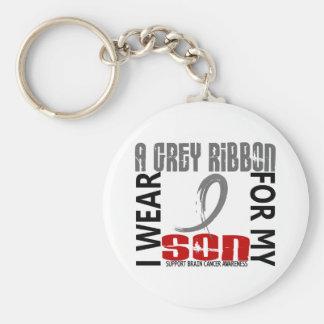 I Wear Grey For My Son 46 Brain Cancer Keychains