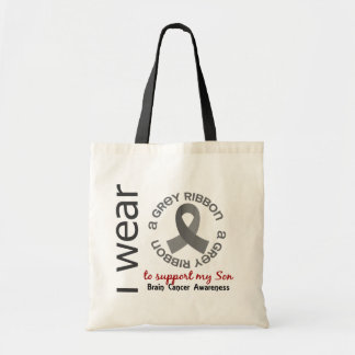 I Wear Grey For My Son 6.4 Brain Cancer Tote Bag