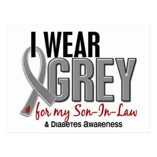 I Wear Grey For My Son-In-Law 10 Diabetes Postcard