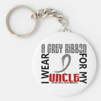 I Wear Grey For My Uncle 46 Brain Cancer Key Chains