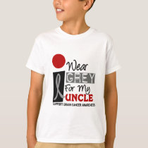 I Wear Grey For My Uncle 9 BRAIN CANCER T-Shirt