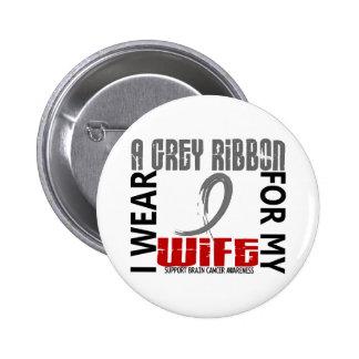 I Wear Grey For My Wife 46 Brain Cancer Pins