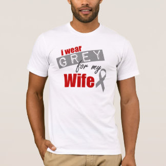 I Wear Grey For My Wife T-Shirt