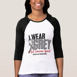 I Wear Grey For Someone Special 10 Diabetes T-Shirt