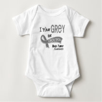 I Wear Grey For Someone Special 42 Brain Tumor Baby Bodysuit
