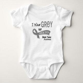 I Wear Grey For Someone Special 42 Brain Tumor Baby Bodysuit