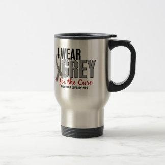 I Wear Grey For The Cure 10 Diabetes Travel Mug