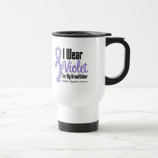 I Wear Hodgkins Lymphoma Ribbon For My Grandfather 15 Oz Stainless Steel Travel Mug