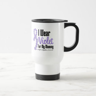 I Wear Hodgkins Lymphoma Ribbon For My Mommy 15 Oz Stainless Steel Travel Mug