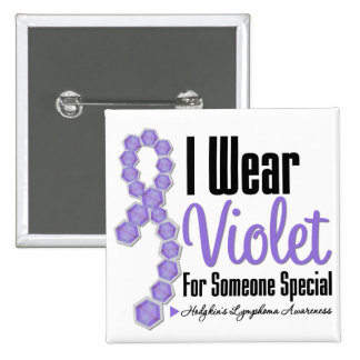 I Wear Hodgkins Lymphoma Ribbon (Someone Special) 2 Inch Square Button
