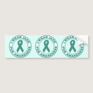 I Wear Jade For Awareness Bumper Sticker