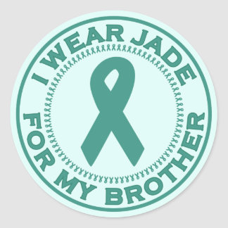 I Wear Jade For My Brother Classic Round Sticker