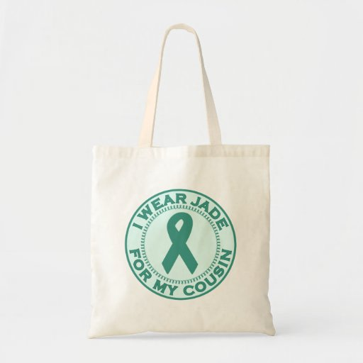 I Wear Jade For My Cousin Tote Bags
