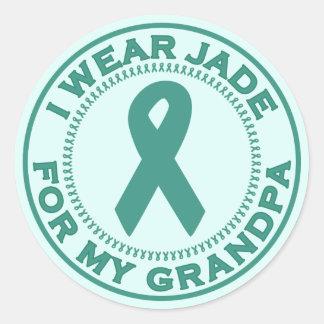 I Wear Jade For My Grandpa Classic Round Sticker