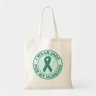 I Wear Jade For My Husband Tote Bag